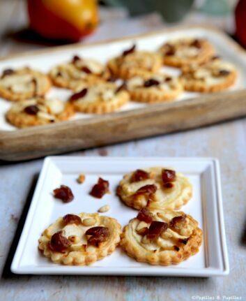 Tartelettes poires dattes pignons de pins