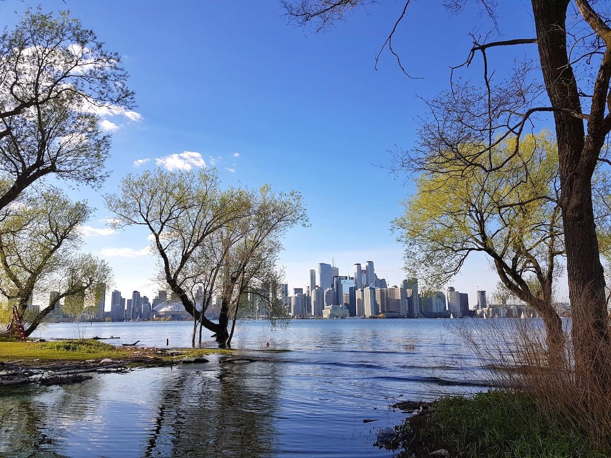 Vue sur Toronto depuis Toronto Island -