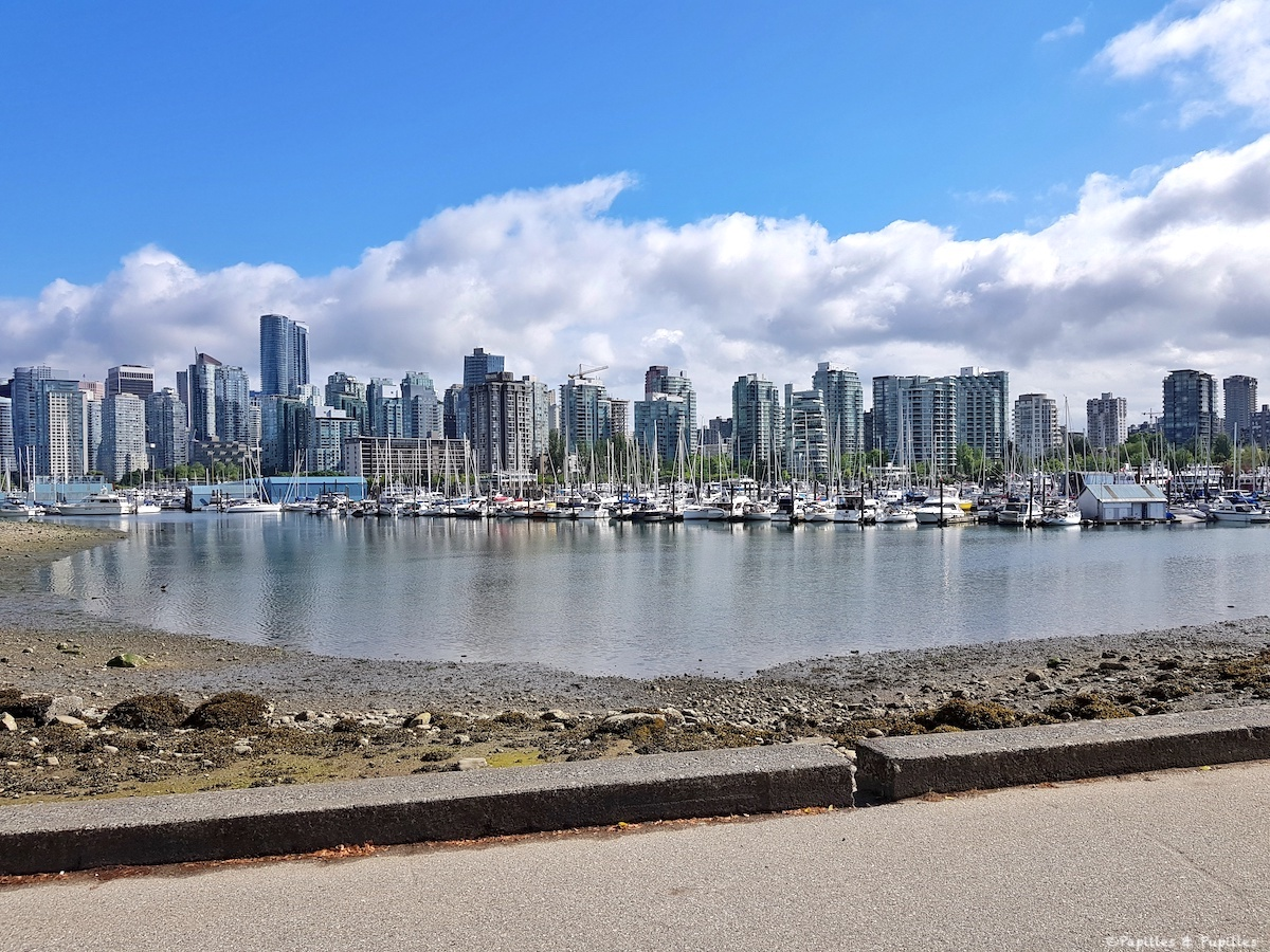 Vue sur Vancouver depuis Stanley Park