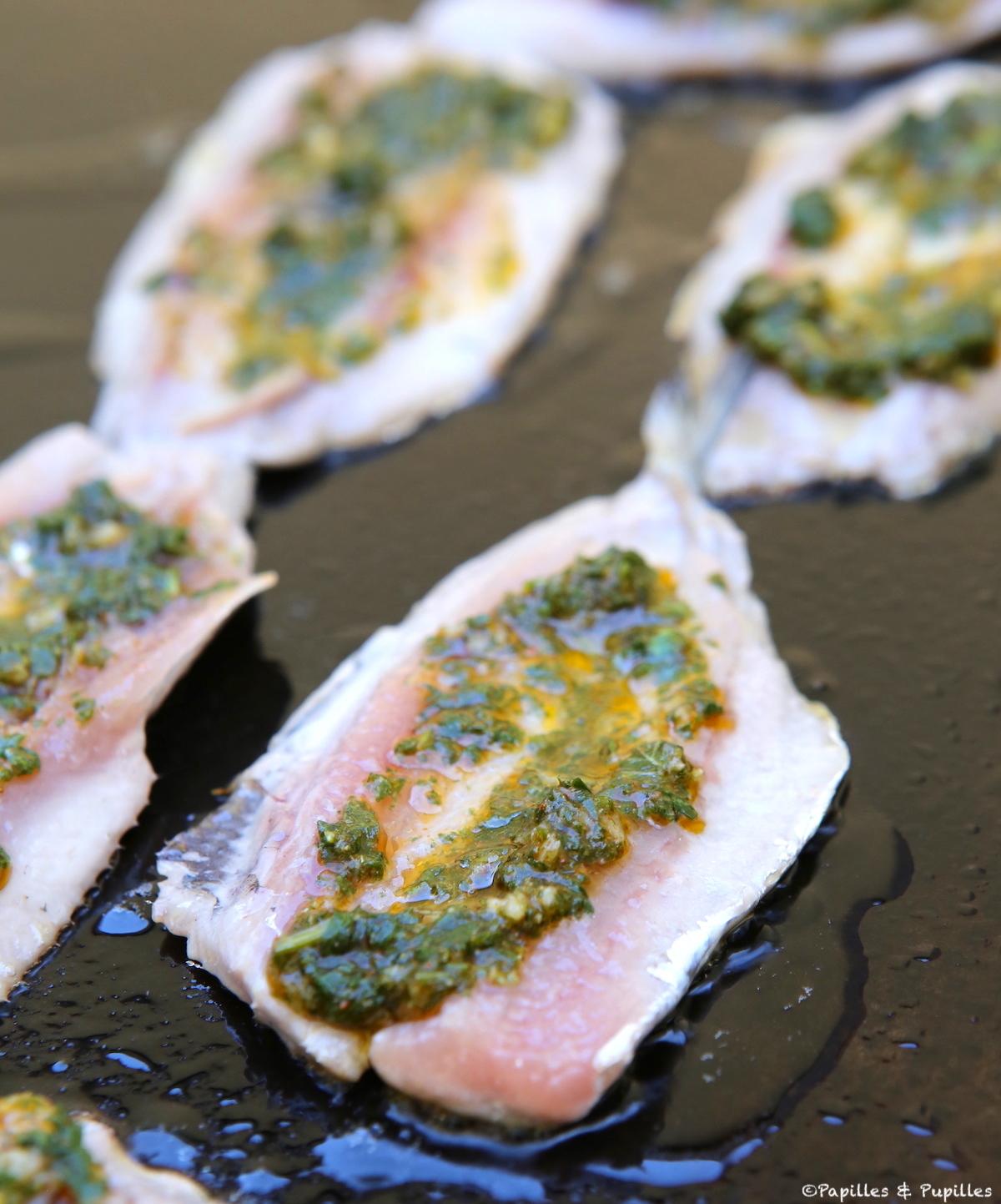 Filets de sardine à la chermoula sur la plancha
