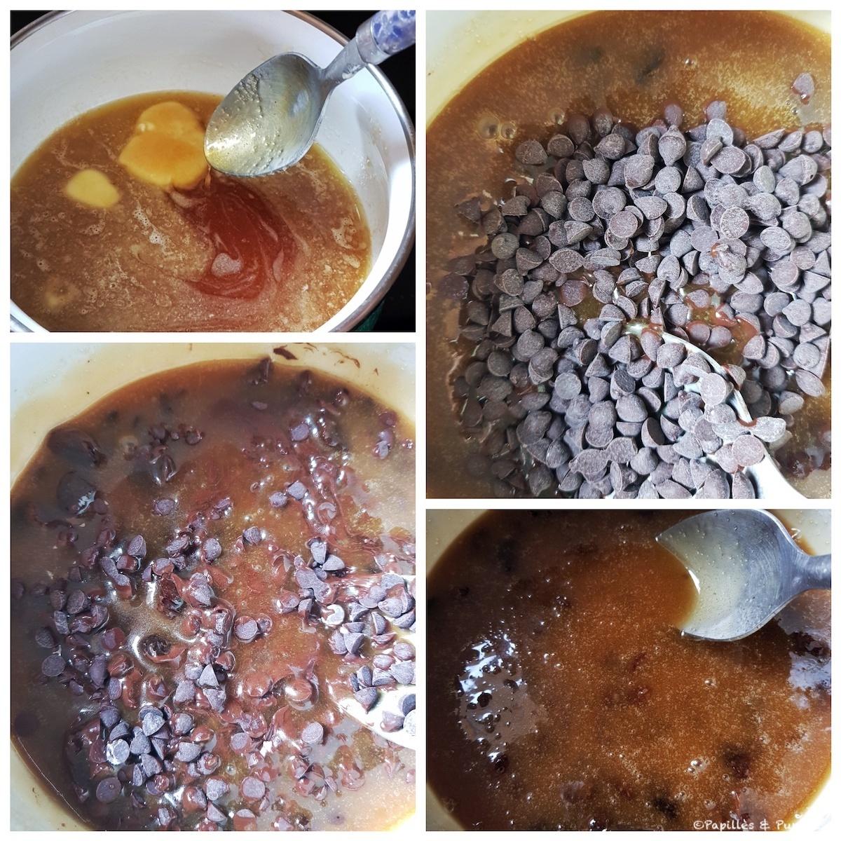 Mélange miel beurre sucre chocolat