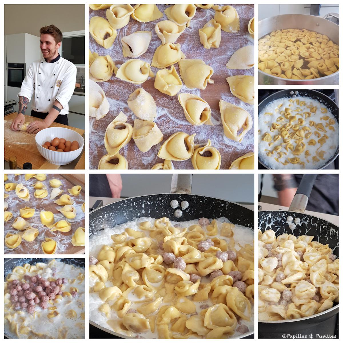 Préparation des tortellini
