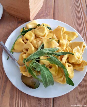 Tortelloni au beurre de sauge