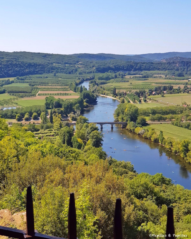 Vue sur la Dordogne depuis la bastide de Domme