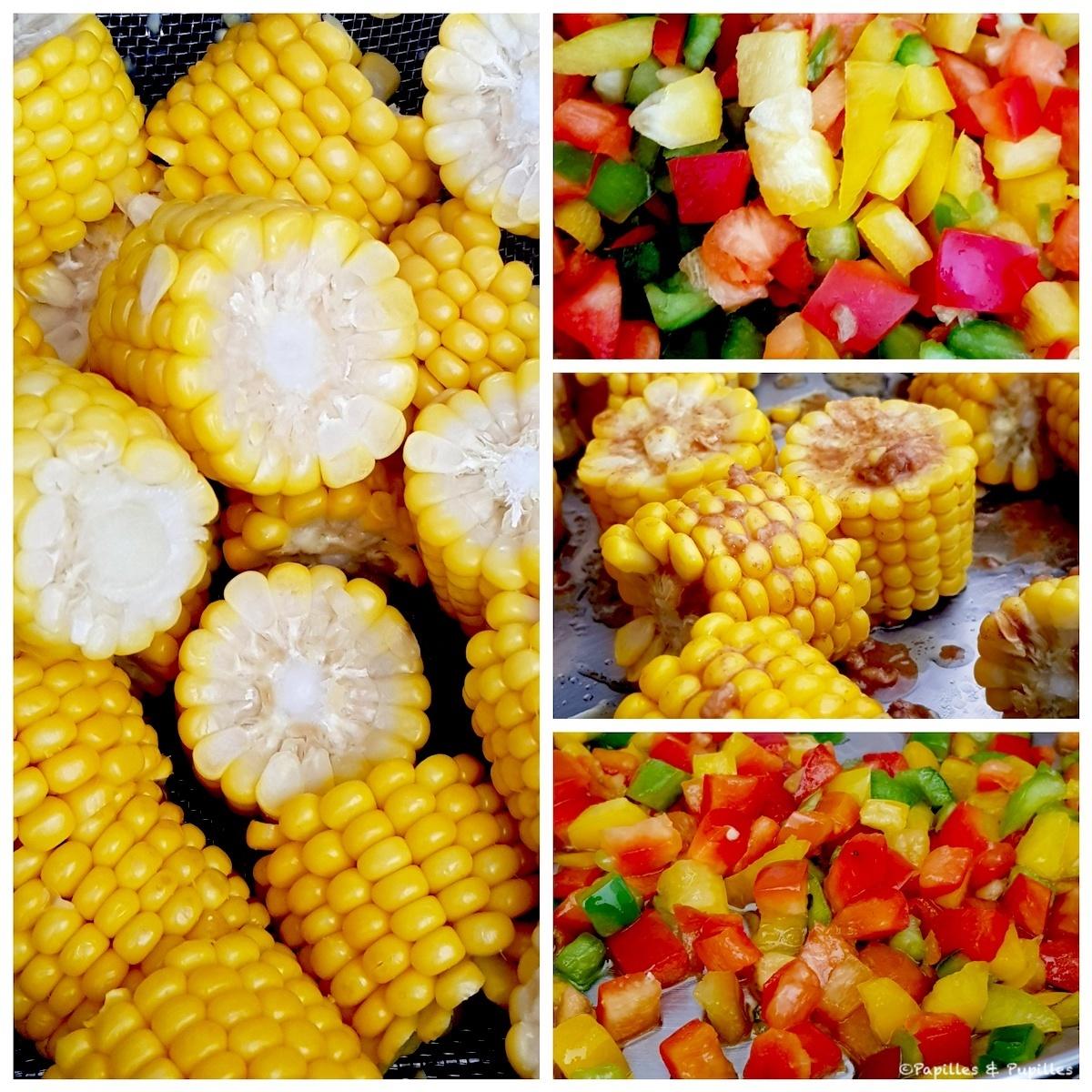 Maïs et poivrons