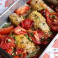 Cuisses de poulet aux tomates et thym