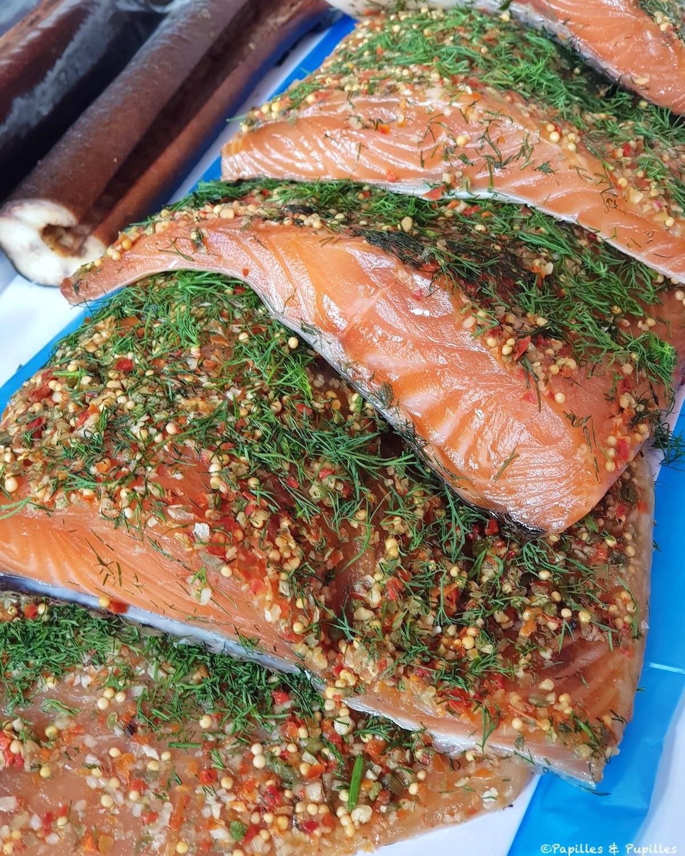 Bergen - Marché aux poissons - Saumon gravlax