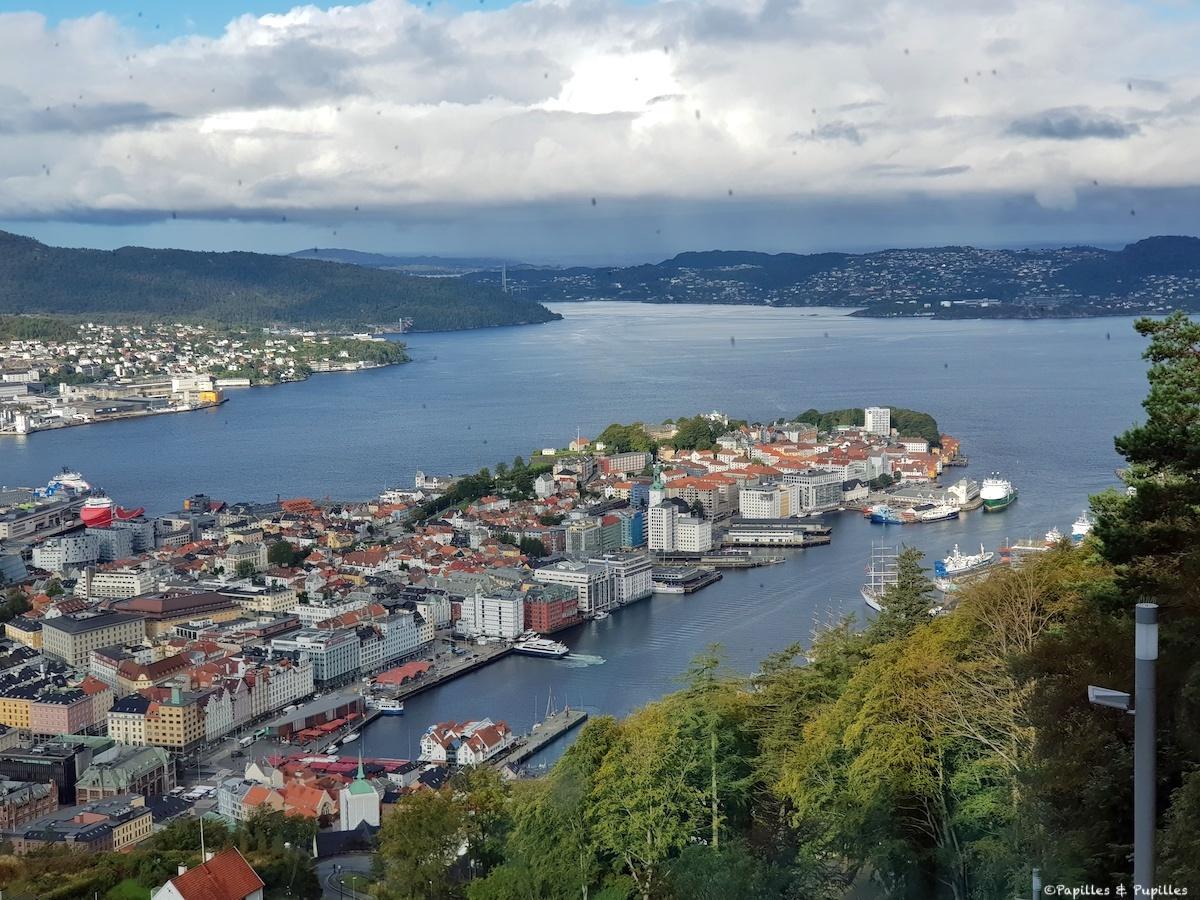 Bergen - vue du Fjord depuis le terminal du Funiculaire