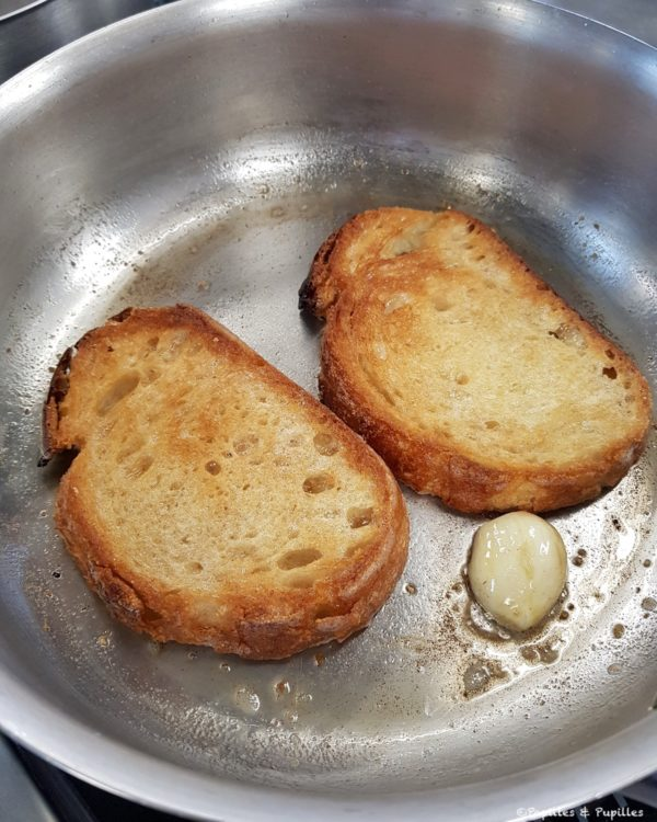 Cuisson des tartines de pain