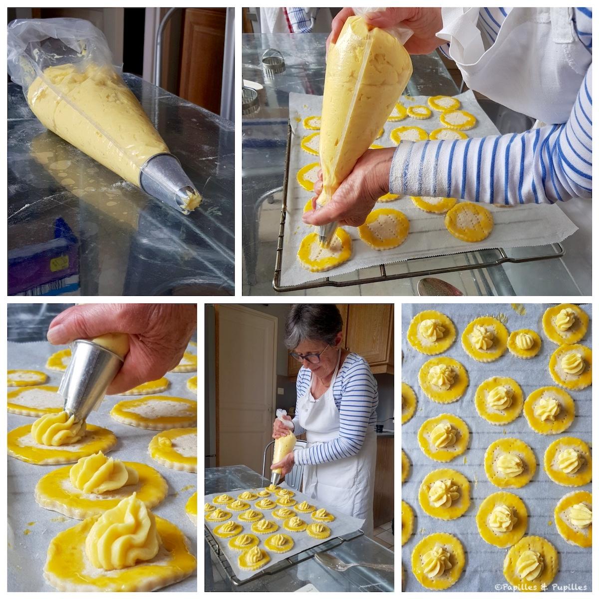Garnissez de crème pâtissière