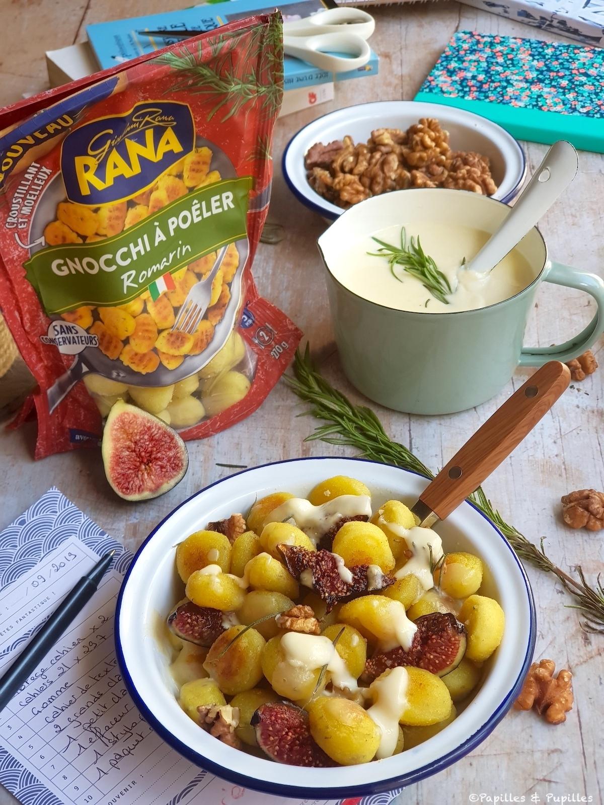 Gnocchis à poêler au romarin, figues, noix et crème de Parmesan