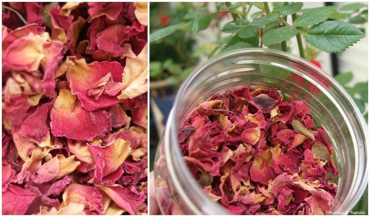 Pétales de roses séchées