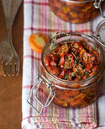 Tomates séchées (confites) à l'huile