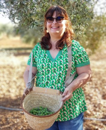 Anne - cueillette des olives