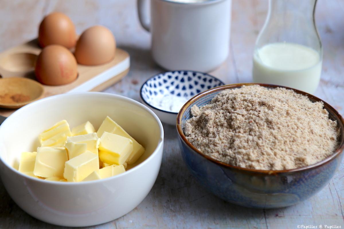 Cake aux noisettes ingrédients