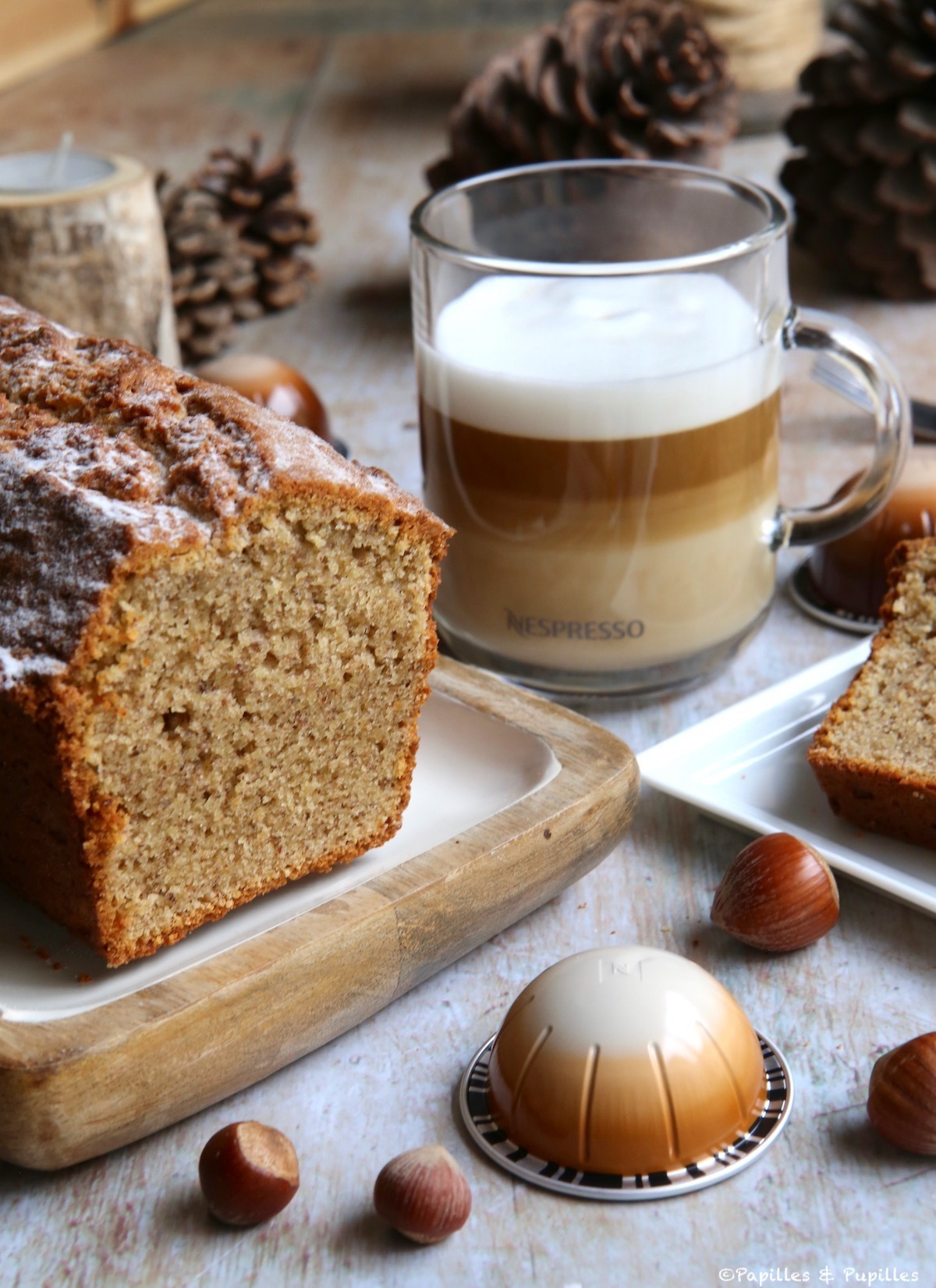 Cake aux noisettes vertical