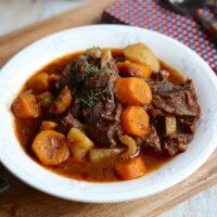 Joues de boeuf, carotte et pommes de terre
