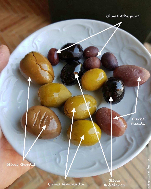 Les Différentes variétés d'olives