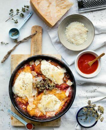 Escalopes de poulet à la Mozzarella et au Parmesan