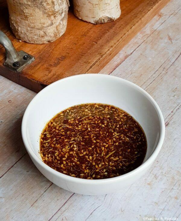 Mélange zaatar huile d'olive