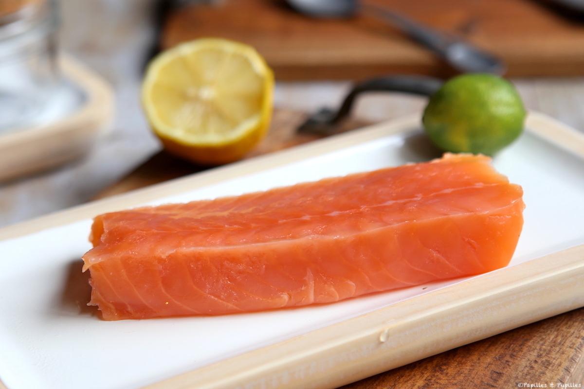 Ensalada de invierno con salmón ahumado y rábano negro