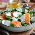 Salade hivernale au saumon fumé