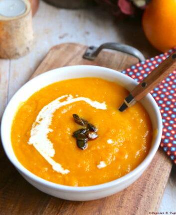 Soupe butternut carottes orange safran