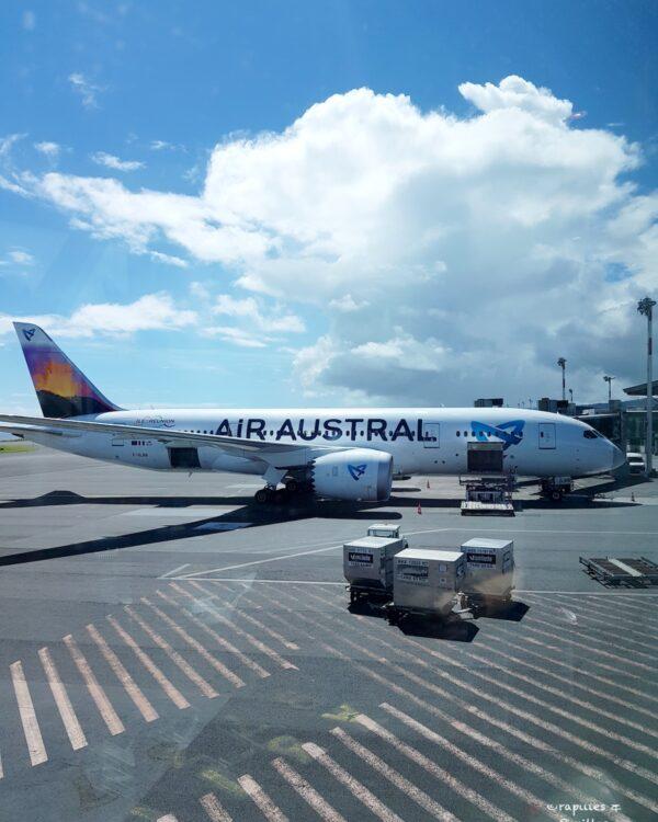 Avion à l'arrivée