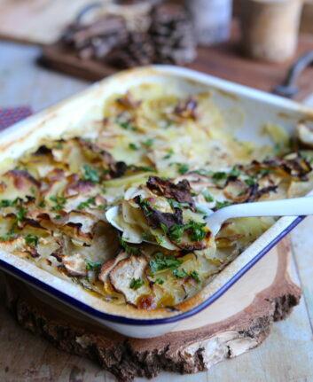Pommes de terre et céleri, façon boulangère