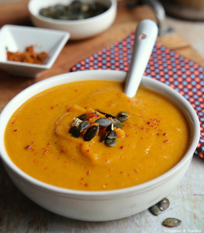 Velouté butternut curry piment