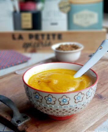 Soupe de carottes au massalé