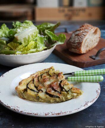 Tarte aux courgettes pesto et Parmesan
