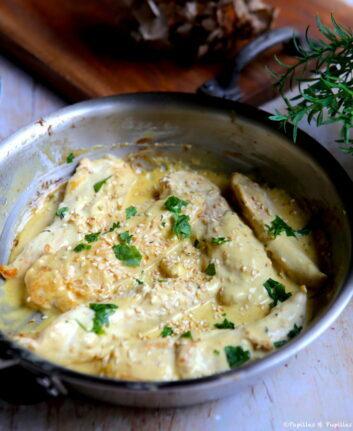 Aiguillettes de poulet moutarde crème thym