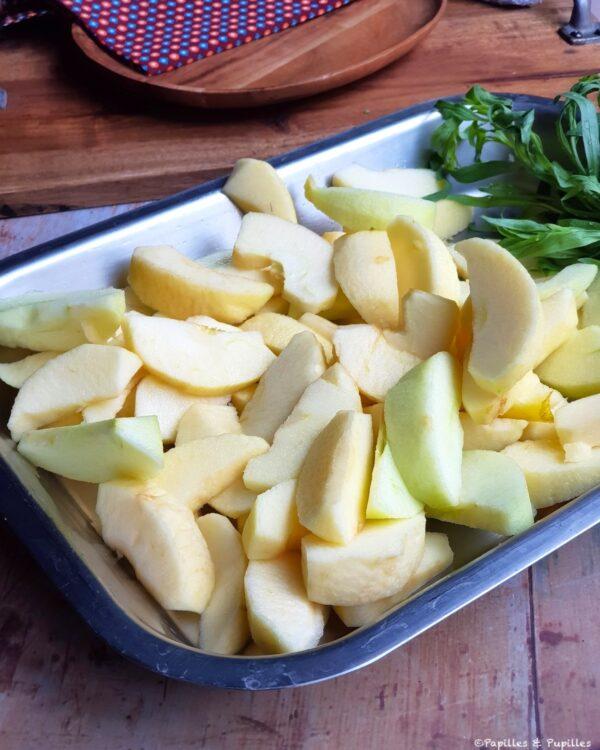 Coupez les pommes