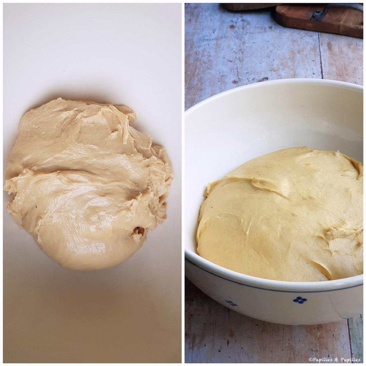 Pâte avant et après la levée