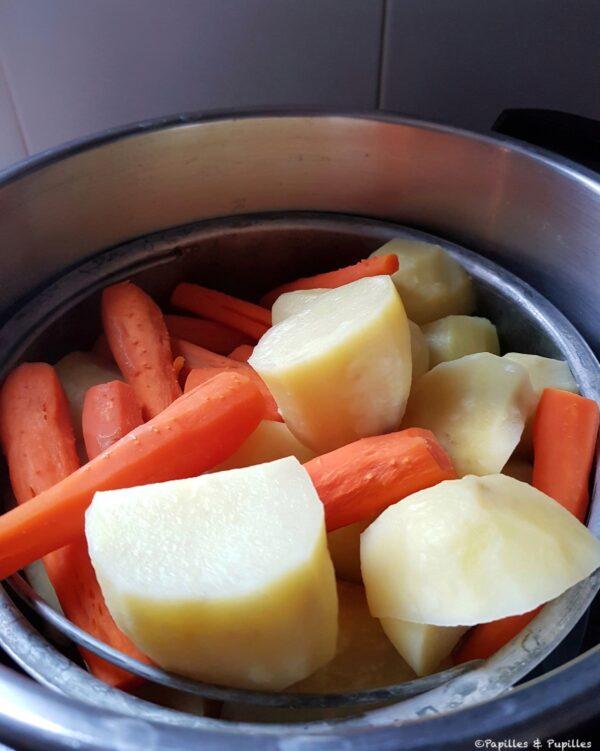 Pommes de terre et carottes précuites