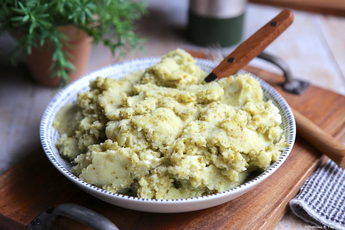 Purée de brocolis et de pommes de terre