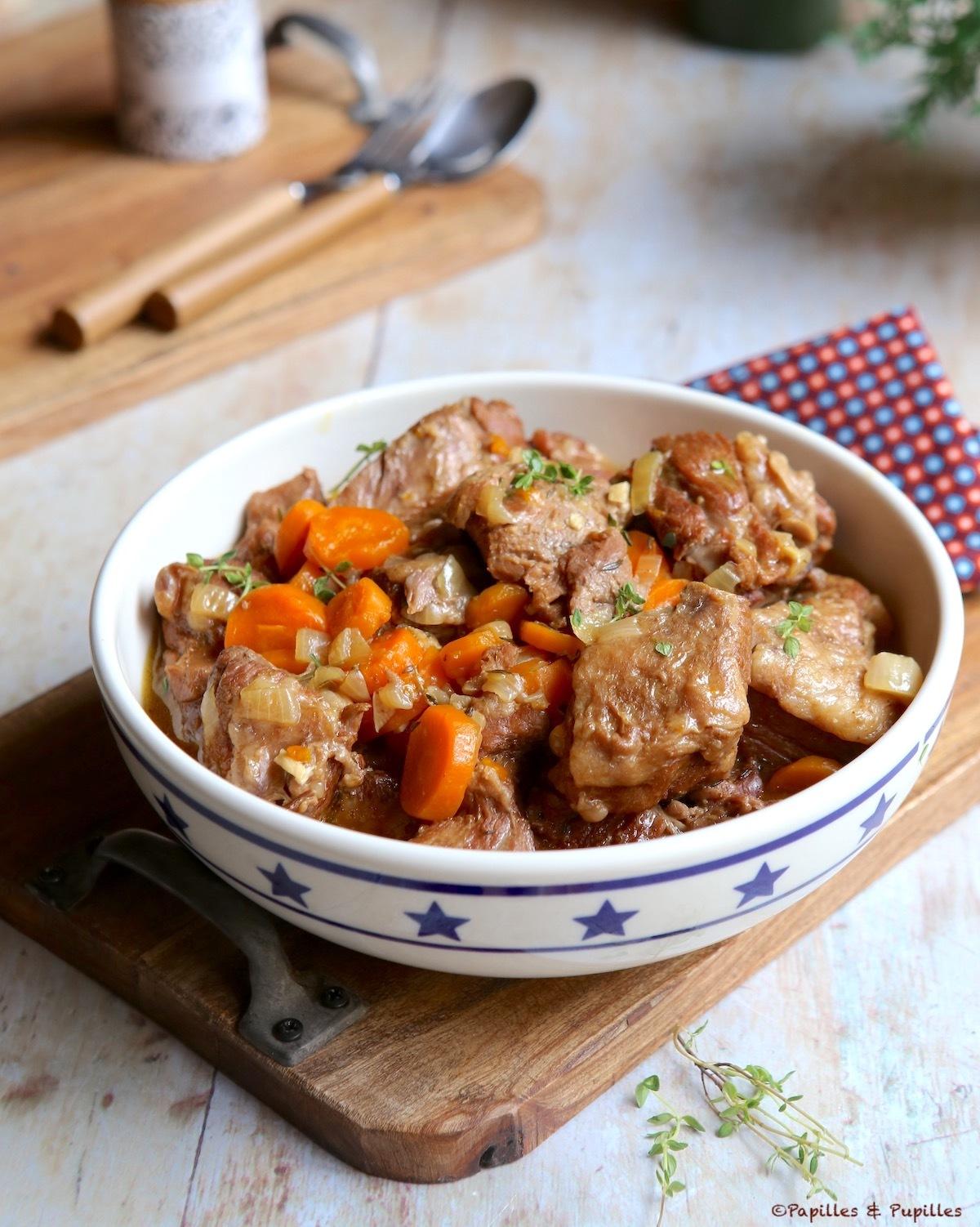 Sauté de veau aux carottes et Muscat