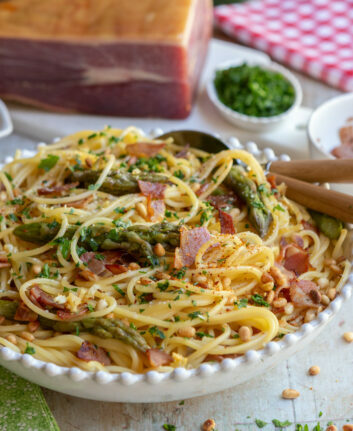 Spaghetti au jambon de Bayonne