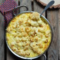 Gratin de chou-fleur coco curry