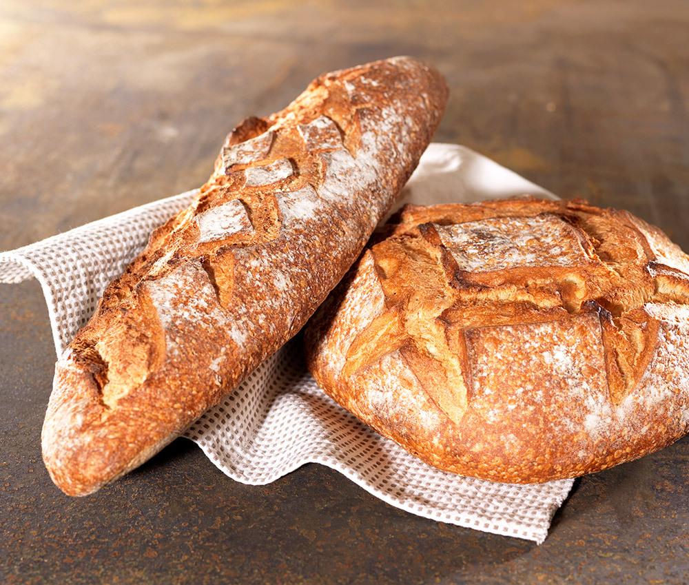 Les pains à la farine de blé rouge d'Eric Aphatie