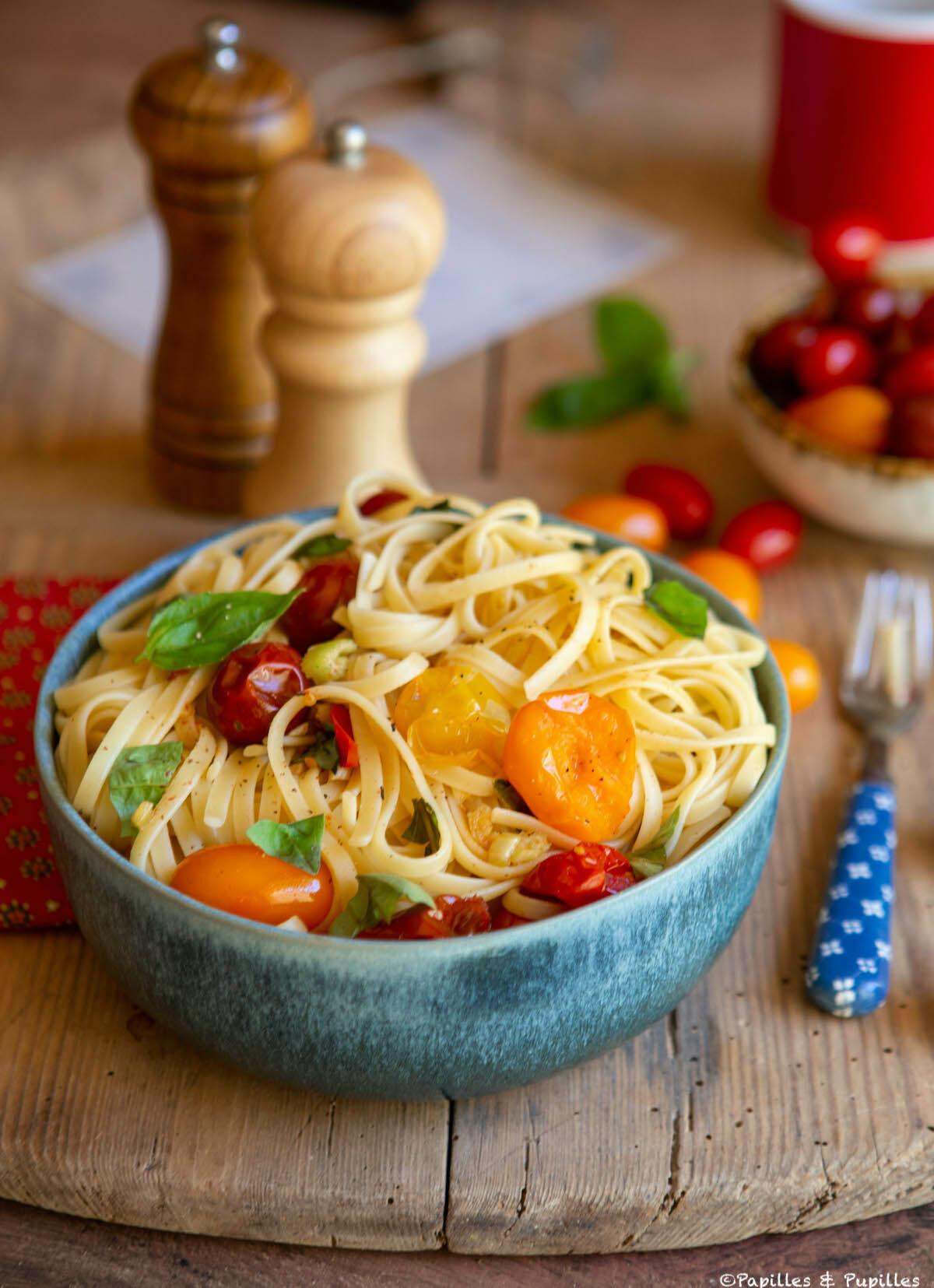 Linguines aux tomates cerises