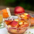 Salade abricot nectarine miel romarin