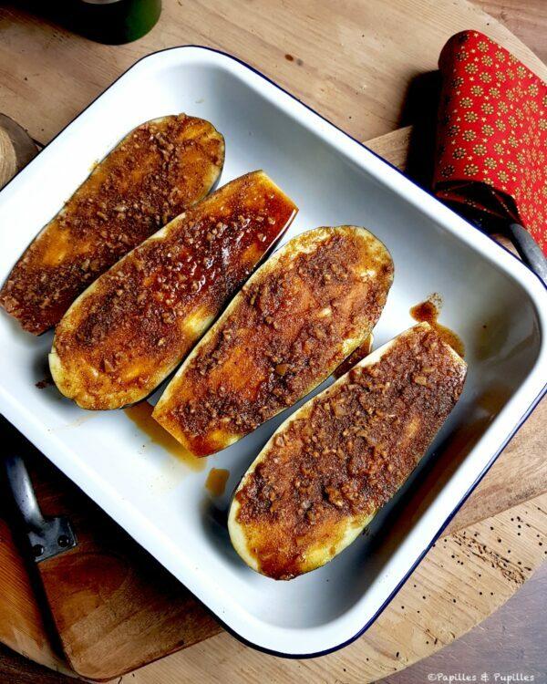 Aubergines tartinées de chermoula