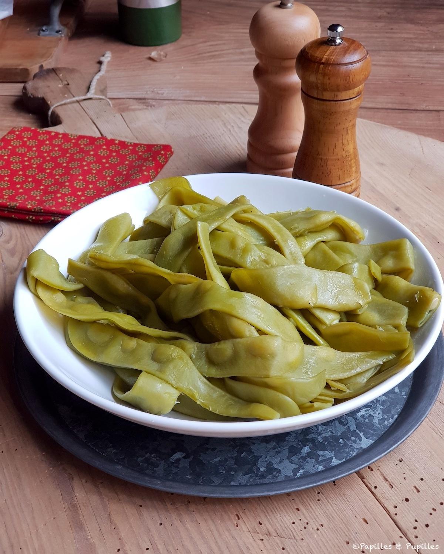 Haricots plats cuits