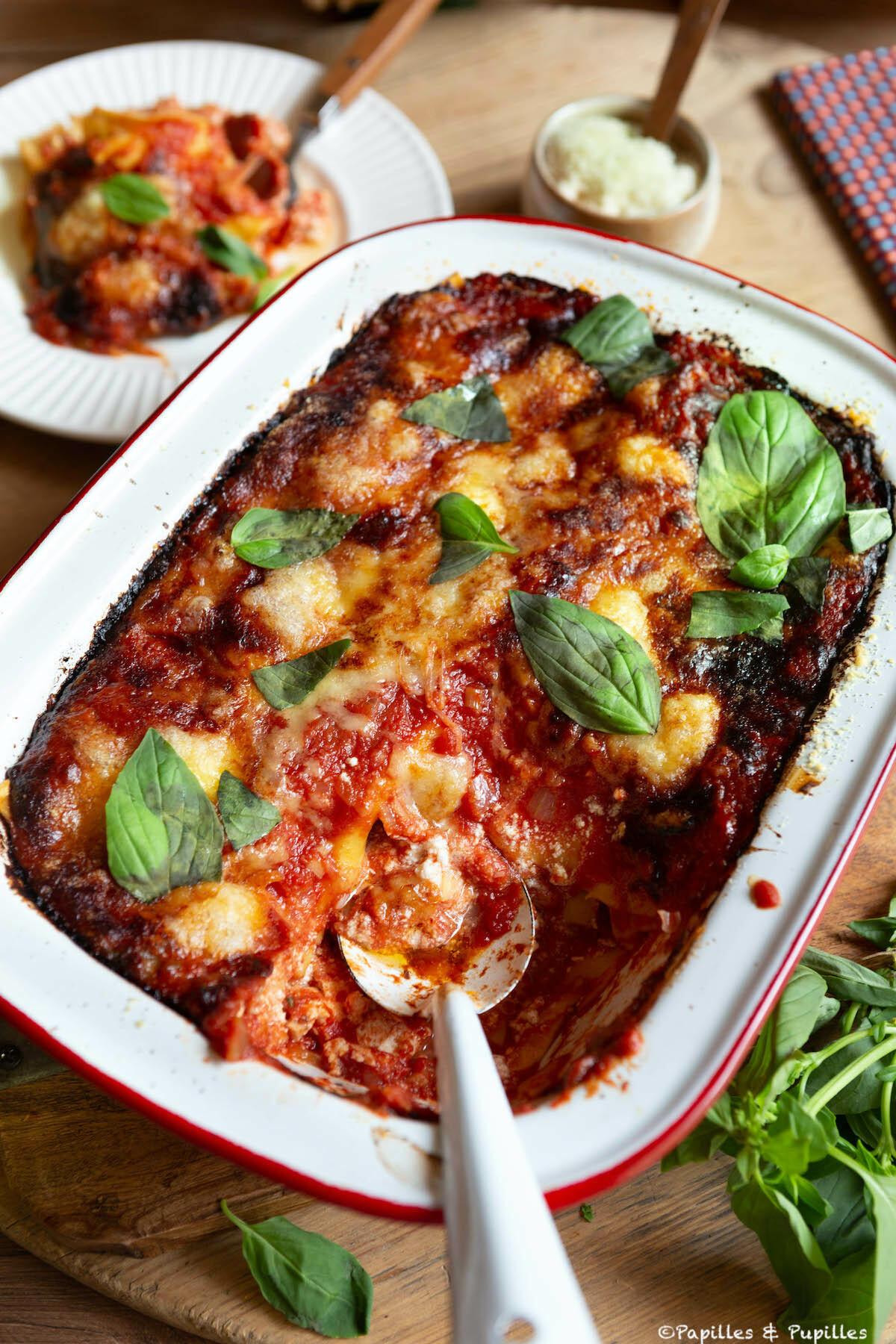 Lasagne jambon cru ricotta