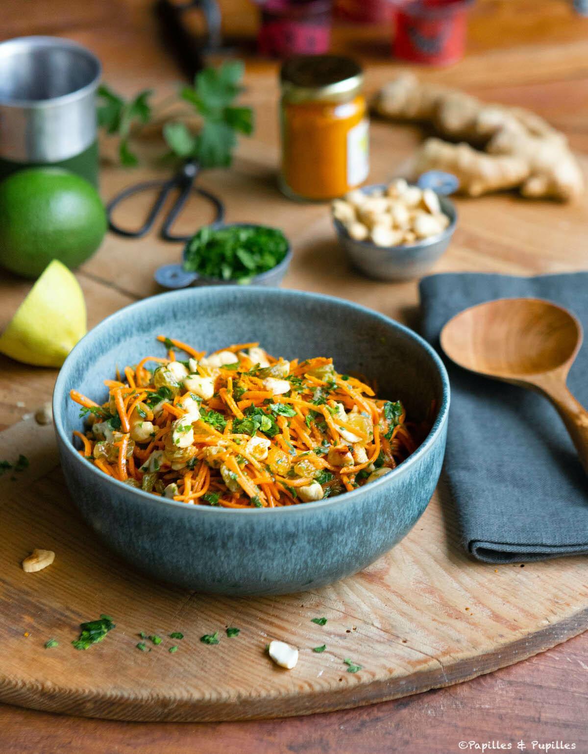 Salade de carottes râpées à l'indienne