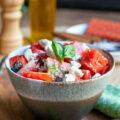 Salade de pastèque feta basilic