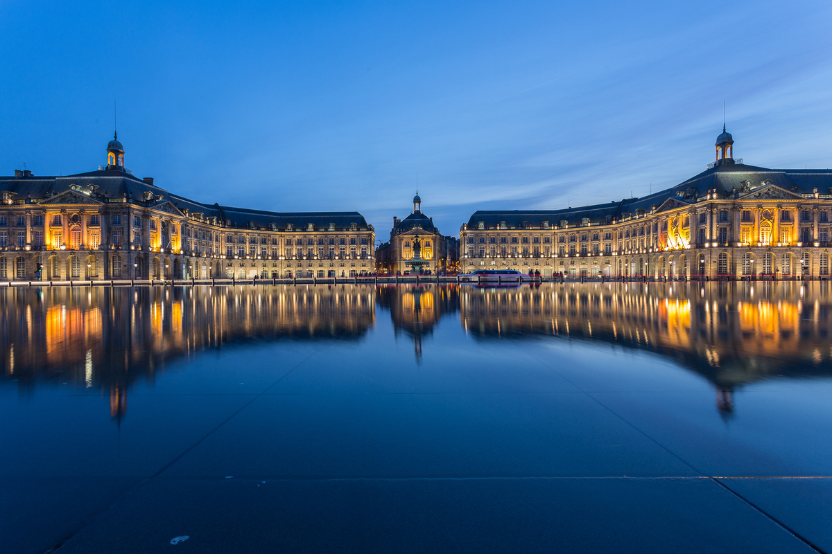 Miroir d'eau - place de la Bourse ©Steve Le Clech Photos
