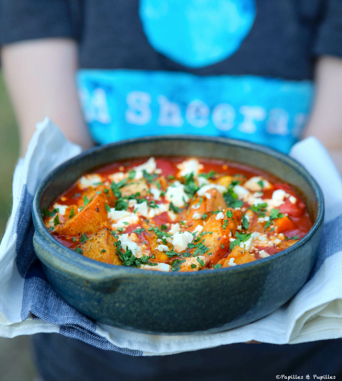 Patates douces, feta et sauce tomate Ottolenghi